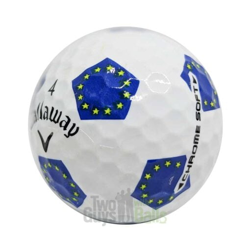 callaway chrome soft truvis ryder cup european used golf balls