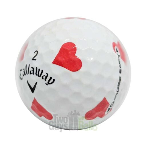 callaway chrome soft truvis suits hearts used golf balls