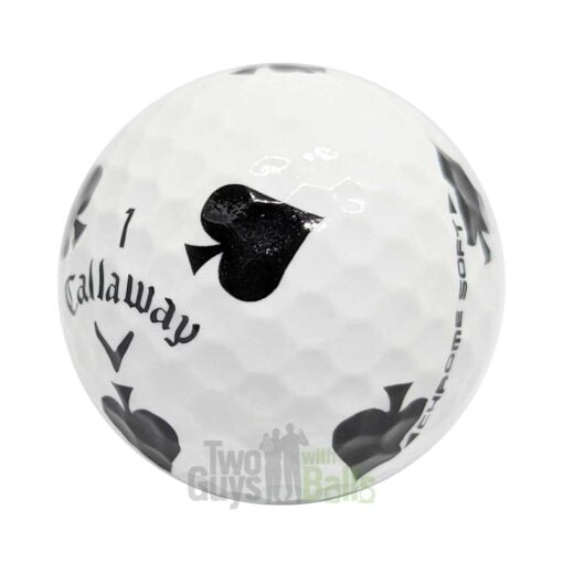 callaway chrome soft truvis suits spades used golf balls