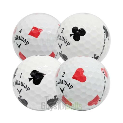 callaway chrome soft truvis suits used golf balls