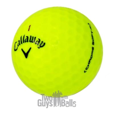 used callaway chrome soft x yellow golf balls