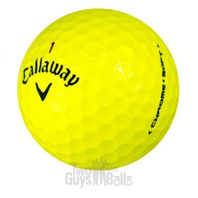 Callaway Chrome Soft Yellow Used Golf Balls