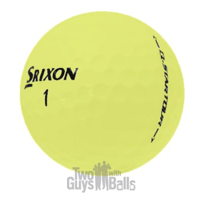 srixon q star tour yellow used golf balls