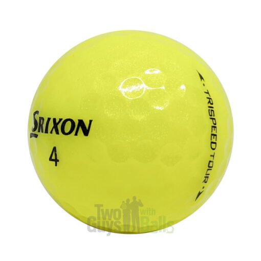 srixon trispeed tour yellow used golf balls