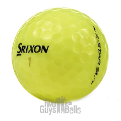 srixon z star sl yellow used golf balls