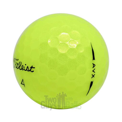 titleist avx yellow used golf balls