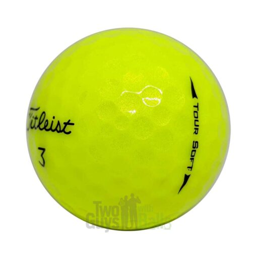 titleist tour soft yellow used golf balls