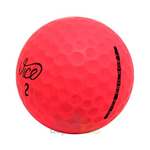vice pro soft red used golf balls